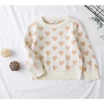 Lovely Baby Sweater, Hello Letter, O-neck, Long Sleeved Casual Tops Set-2