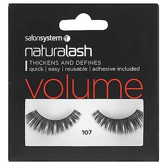 Salon System  Naturalash - Volume - No 107 Reusable Eyelashes - (adhesive Included)