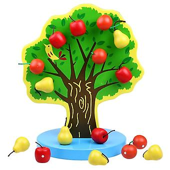 مونتيسوري شجرة الطفل المغناطيسي خشبية، والتعليم التعليمي