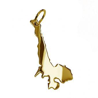 Anhänger Landkarte Wunsch-Landkarte Kettenanhänger massiv 333 gold Brillant Nähe Wunschort