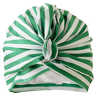 Stripey Green Shower Turban