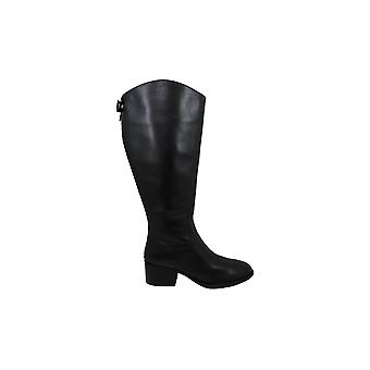 INC International Concepts Women's Shoes Cerie Leather Almond Toe Knee High F...