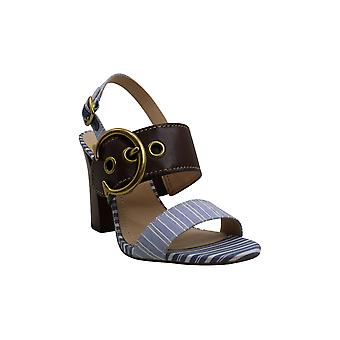 Coach Women's Shoes Robin Leather Open Toe Casual Slingback Sandals