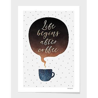コーヒーフレームの後に人生が始まる