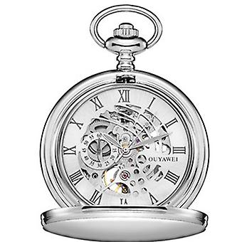 OUYAWEI P01 Mechanical Pocket Watchl Vintage Hand Watch Retro Pendant Pocket
