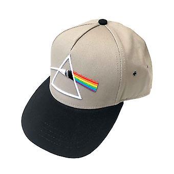 Pink Floyd Baseball Cap Dark Side of the Moon Prism Band Logo nieuwe Officiële Zand