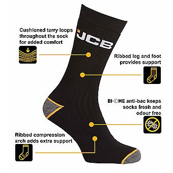 Offizielle JCB Strumpfwaren - Activity Socken 9-11 6pcs Schwarz