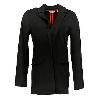 Motto Women's Suit Jacket/Blazer Black Open Front Polyester 663-963