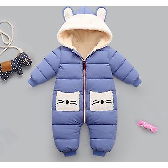 Baby Mantel Winter Kapuzen Mantel Strampler, dicke warme Overall Overalls Schneeanzug