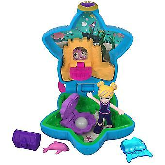 Polly pocket fry33 tiny pocket places aquarium compact play set, multi-colour polly's aquarium