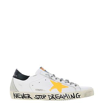 Golden Goose Gmf00102f00061310343 Men's White Leather Sneakers
