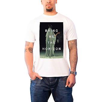 أحضر لي الأفق ر قميص يغشاها الفرقة شعار رجالي رسمية جديدة بيضاء