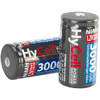 HyCell HR20 D batéria (nabíjateľná) NiMH 3000 mAh 1,2 V 2 ks (s)