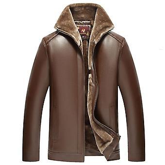 الرجال الجدد حقيقية جلد معطف جلد الغنم سترة قصيرة الشتاء زائد حجم