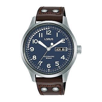 Lorus RL463AX-9 Brown Leather Day Date Montre-bracelet automatique