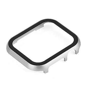 Metallhölje och härdat filmglas för Apple Watch Cover Iwatch Se Watch