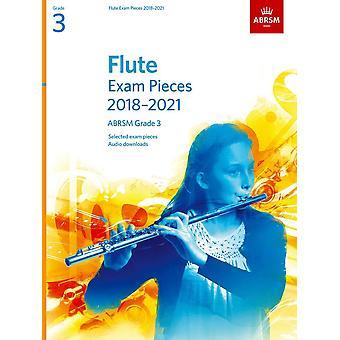Peças do Exame da Flauta 2018-2021, Abrsm Grade 3 Paperback