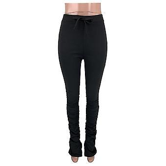Hohe Taille Sweatpants Frauen Jogger elastische Sommer Glocke Unten Hose