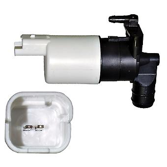 Single Outlet Windscreen Washer Pump For Citroen, Dacia, Fiat, Peugeot, Toyota & Vauxhall/Opel Awp27
