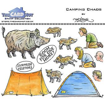 The Card Hut Great Outdoors: Camping Chaos Clear Stamps
