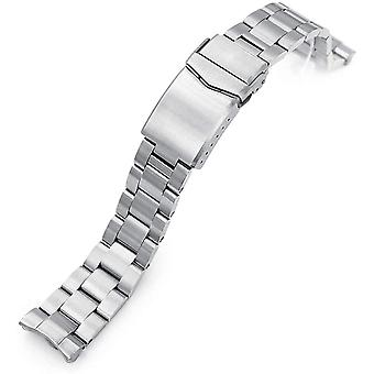 MiLTAT 20mm Watch Band for Seiko Mini Turtle SRPC39 SRPC41, Super-O Solid Screw-Links
