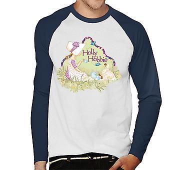 Holly Hobbie Tea Party Men's Baseball Long Sleeved T-Shirt
