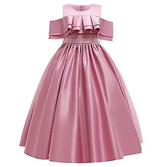 Girl Lace Petal Communions Birthday Long Banquet Pageant Dress For Wedding
