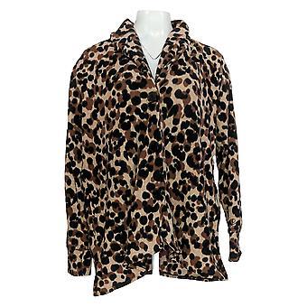 Cuddl Duds Women's Sweater Fleecewear Button Front Cardigan Bege A369667