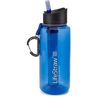 LifeStraw Go 1L Water Filter Bottle - Blue