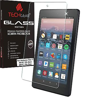 """Techgear glass edition screen protector for new amazon fire 7"""" tablet (9th generation / 2019 & 7th g"""