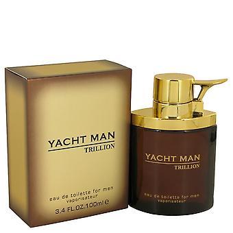 Yacht Man Trillion by Myrurgia Eau De Toilette Spray 3.4 oz / 100 ml (Men)