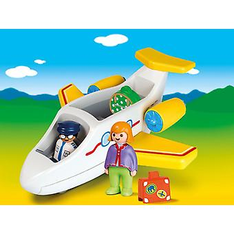 Playmobil 1.2.3 fly med passager