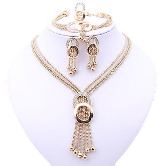 Women Bridal Fine Crystal African Beads Jewelry Set