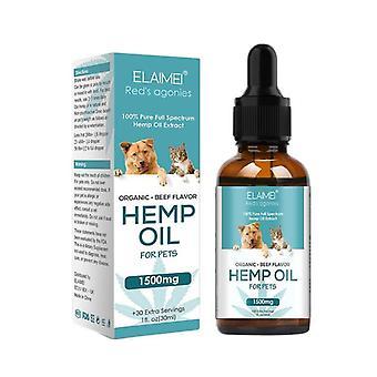 Hamp eterisk olje for katten hunden angst kronisk smertelindring (30ml)