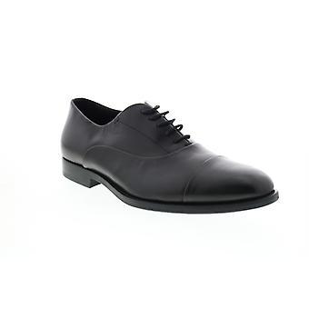 Geox U Hampstead Herren schwarz Leder Oxfords & Schnürsenkel Cap Toe Schuhe