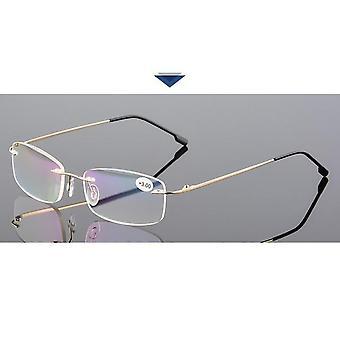 メモリー チタン リムレス老眼鏡