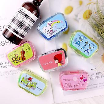 Colored Contact Lens Case With Mirror Lovely Travel Kit Box