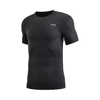 Li-ning Men Training Base Layer Tight Fit Respirabil, Poliester, Spandex Sport