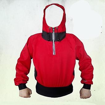 Cags semi-secos, chaqueta de remo con salpicadura de capucha de tormenta