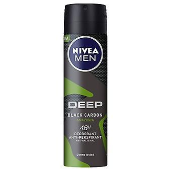 Spray Deodorantti Miehet Syvä Amazonia Nivea (150 ml)