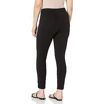 Brand - Daily Ritual Women's Seamed Front, 2-Pocket Ponte Knit Legging, Black, X-Small Short