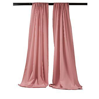 La Leinen Pack-2 Polyester Poplin Hintergrund Drape 96-Zoll breit von 58-Zoll hoch, staubige Rose