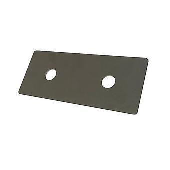 Bagplade til M10 U-bolt 60 Mm Hul centes T316 (a4) Rustfrit stål 12 Mm Hul 30 * 5 * 90 Mm