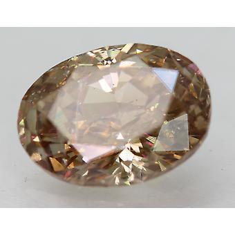 Cert 1.42 Quilates Int Brown VS1 Diamante Natural Mejorado Ovalado 8.25x5.97mm