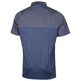 Callaway Golf Mens 2021 Mini Printed Chev Stretch Opti-Dri Wicking Polo Shirt