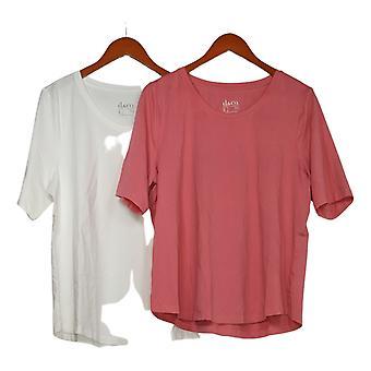 Denim & Co. Women's AnyWear Jersey Top Pink Set de 2 A378932