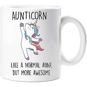 60 Second Makeover 60SECMUG1432 Aunticorn Mug Auntie Unicorn Aunt Aunty Funny Mug Present, White