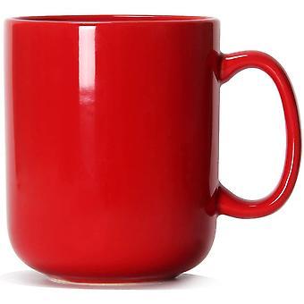 20 OZ Large Coffee Mug, Gerui M016 Plain Ceramic Boss Cup with Handle for Dad Men, Red