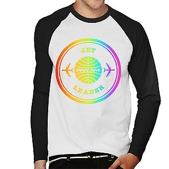 Pan Am Jet Leader Rainbow Foil Men's Baseball Long Sleeved T-Shirt