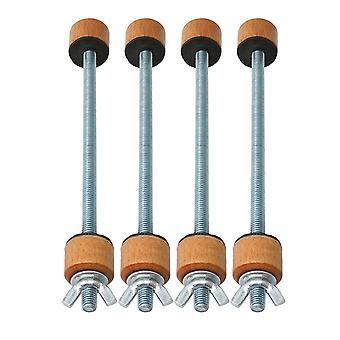 4 x Dessus de correction de pince de colle en bois et dos pour l'outil de réparation de Luthier de violoncelle